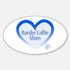 Border Collie Blue Heart Decal