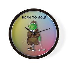 Born to Golf (#2) Wall Clock