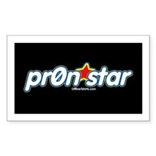 pr0n star Rectangle Decal