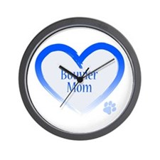 Bouvier Blue Heart Wall Clock