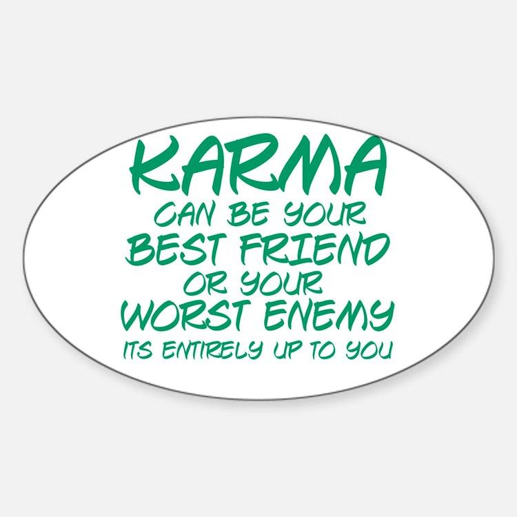 Karma Friend Sticker (Oval)