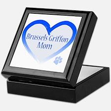 Brussels Griffon Blue Heart Keepsake Box