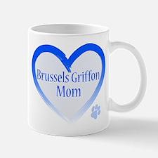 Brussels Griffon Blue Heart Mug