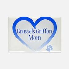 Brussels Griffon Blue Heart Rectangle Magnet