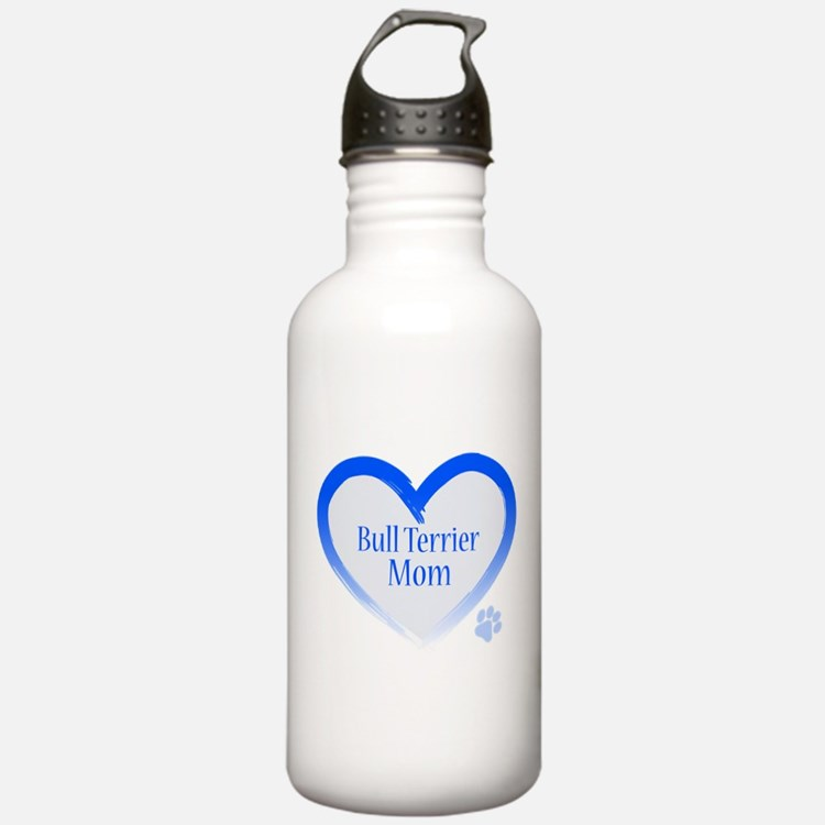 Bull Terrier Blue Heart Water Bottle