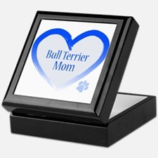 Bull Terrier Blue Heart Keepsake Box