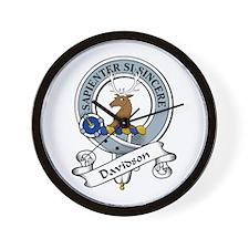 Davidson Clan Badge Wall Clock