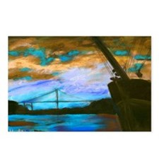 Bay Sunset B Postcards (Package of 8)