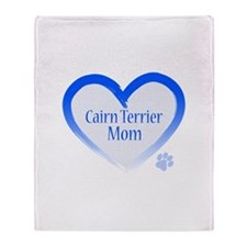 Cairn Terrier Blue Heart Throw Blanket