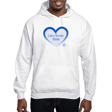 Cairn Terrier Blue Heart Hooded Sweatshirt