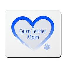 Cairn Terrier Blue Heart Mousepad