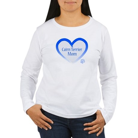Cairn Terrier Blue Heart Women's Long Sleeve T-Shi