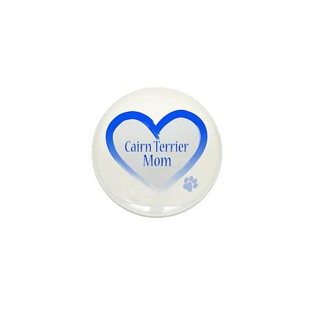 Cairn Terrier Blue Heart Mini Button (10 pack)