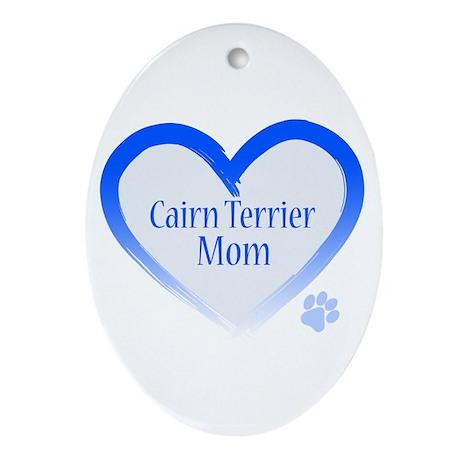 Cairn Terrier Blue Heart Ornament (Oval)