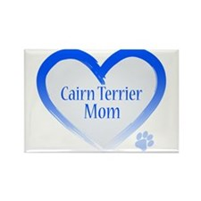 Cairn Terrier Blue Heart Rectangle Magnet