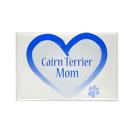 Cairn Terrier Blue Heart Rectangle Magnet (100 pac
