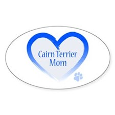 Cairn Terrier Blue Heart Decal
