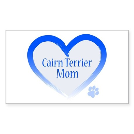 Cairn Terrier Blue Heart Sticker (Rectangle)