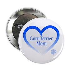 """Cairn Terrier Blue Heart 2.25"""" Button"""