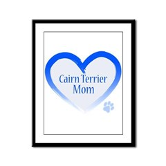 Cairn Terrier Blue Heart Framed Panel Print