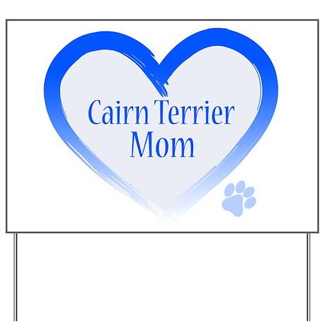 Cairn Terrier Blue Heart Yard Sign
