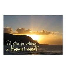 I'd Rather Be Hanalei Sunset Postcards (Pack of 8)