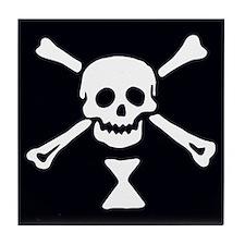 Emanuel Wynne Pirate Flag Tile Coaster