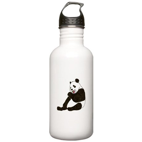 PAND BEAR HOLDING A SUCKER Stainless Water Bottle