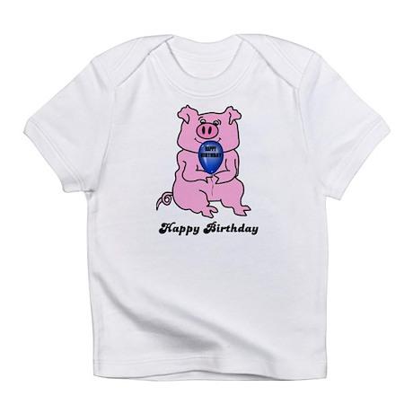 HAPPY BIRTHDAY PINK PIG Infant T-Shirt