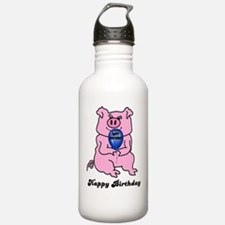 HAPPY BIRTHDAY PINK PIG Water Bottle