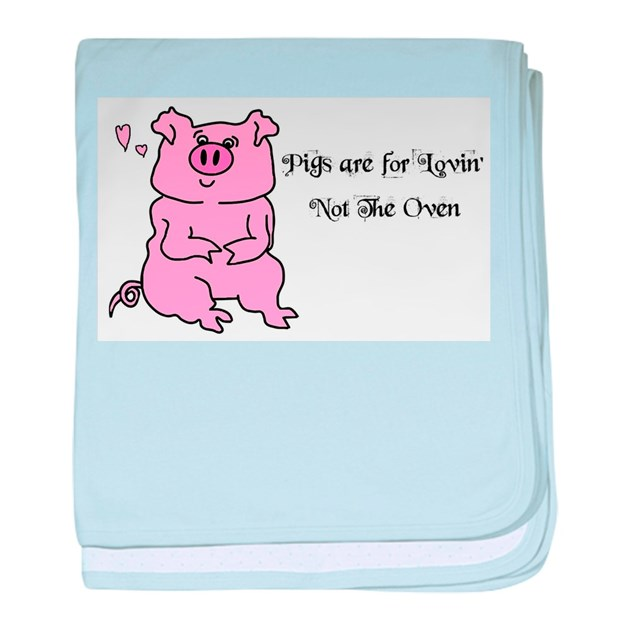 HAPPY BIRTHDAY CUTE PINK PIG Baby Blanket By Blamemyparents
