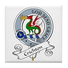 Crichton Clan Badge Tile Coaster