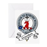 Crawford Clan Badge Greeting Cards (Pk of 10)