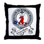 Crawford Clan Badge Throw Pillow