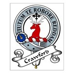 Crawford Clan Badge Small Poster