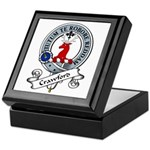 Crawford Clan Badge Keepsake Box