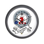 Crawford Clan Badge Wall Clock