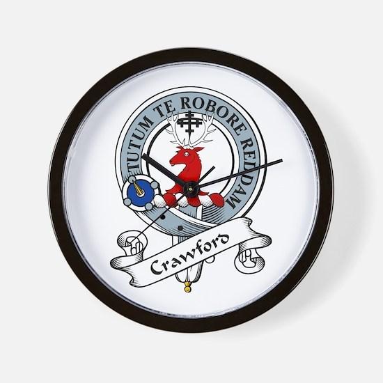Crawford Clan Badge Wall Clock