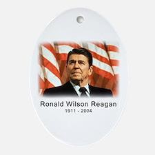 Ronald Reagan Rememberance Oval Ornament