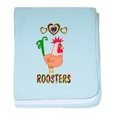 Rooster baby blanket