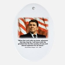 Ronald Reagan: When the Lord Oval Ornament