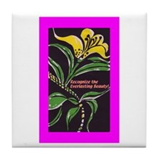 RECOGNIZE THE EVERLASTING BEA Tile Coaster
