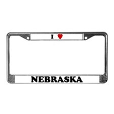 I Love Nebraska License Plate Frame