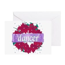 Dancer Wreath by DanceShirts. Greeting Card