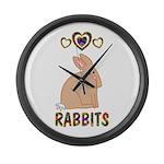 Rabbit Large Wall Clock