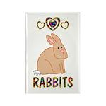 Rabbit Rectangle Magnet (100 pack)