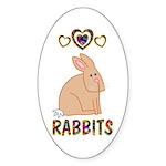 Rabbit Sticker (Oval 10 pk)