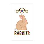 Rabbit Sticker (Rectangle 10 pk)