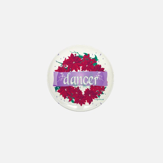 Dancer Wreath Christmas Cards Mini Button