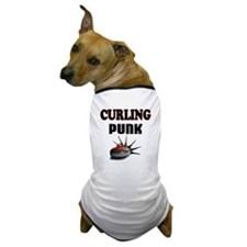Curling Punk Dog T-Shirt